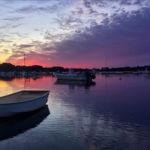Purple Sky w/Boats